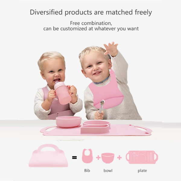 Hot sale product: FDA silicone baby plate set